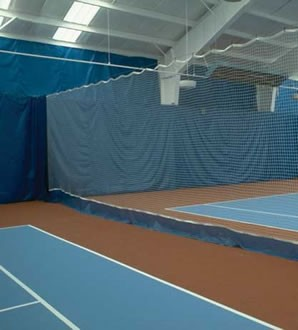 custom made indoor court curtains