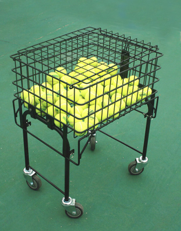 Collapsible tennis teach cart