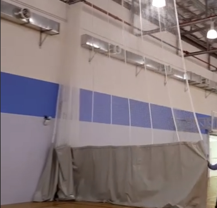 Indoor Court Curtain Side Drawn Vinyl And Net Grand