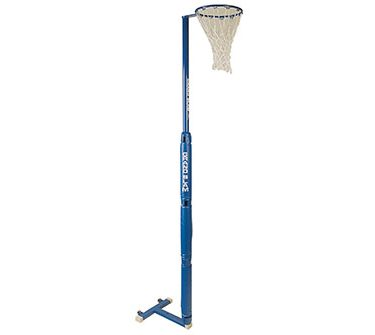 Portable Netball Posts Triangular Base Includes Ring