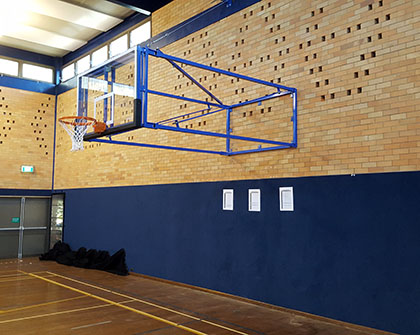 Bb1020 Wall Mounted Side Swing Basketball System Grand