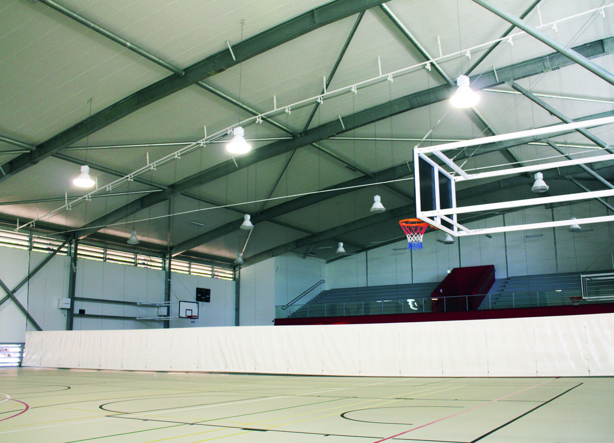 Indoor Court Curtains Vertical Lift Automated System